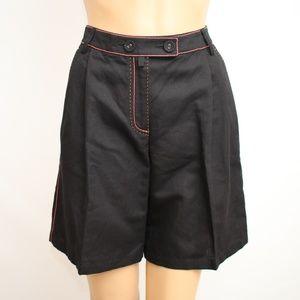 NEW Oilily Linen Blend High Waist Flare Shorts